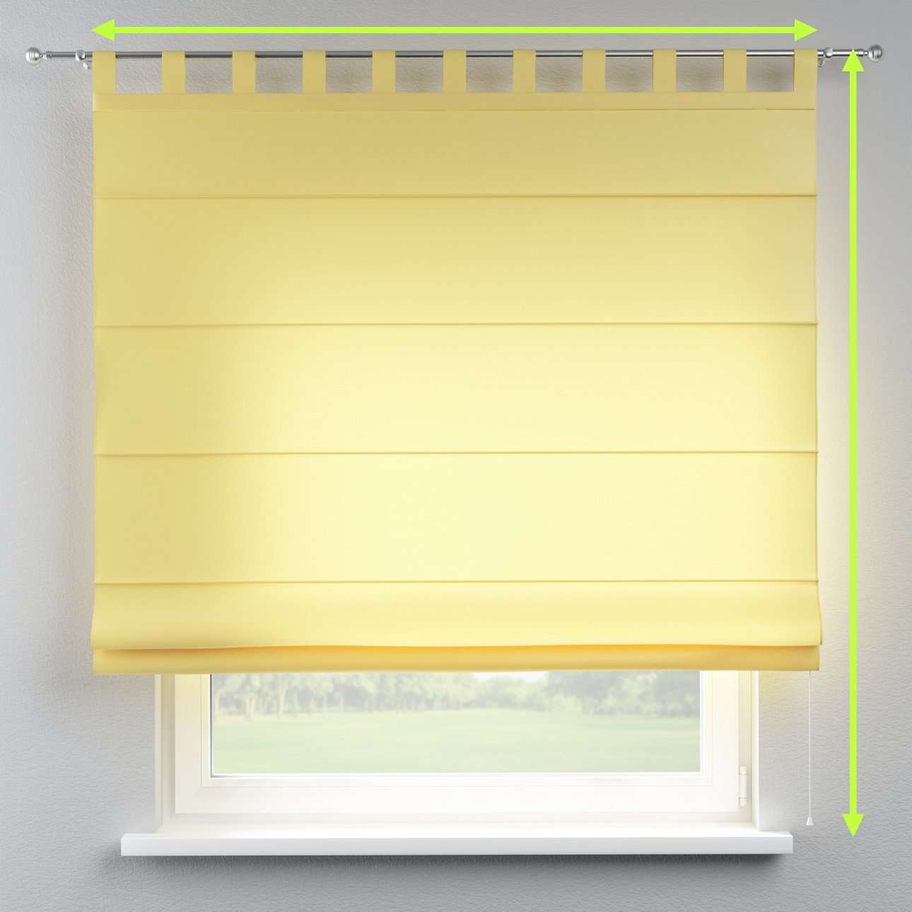 Verona tab top roman blind in collection Milano, fabric: 150-34