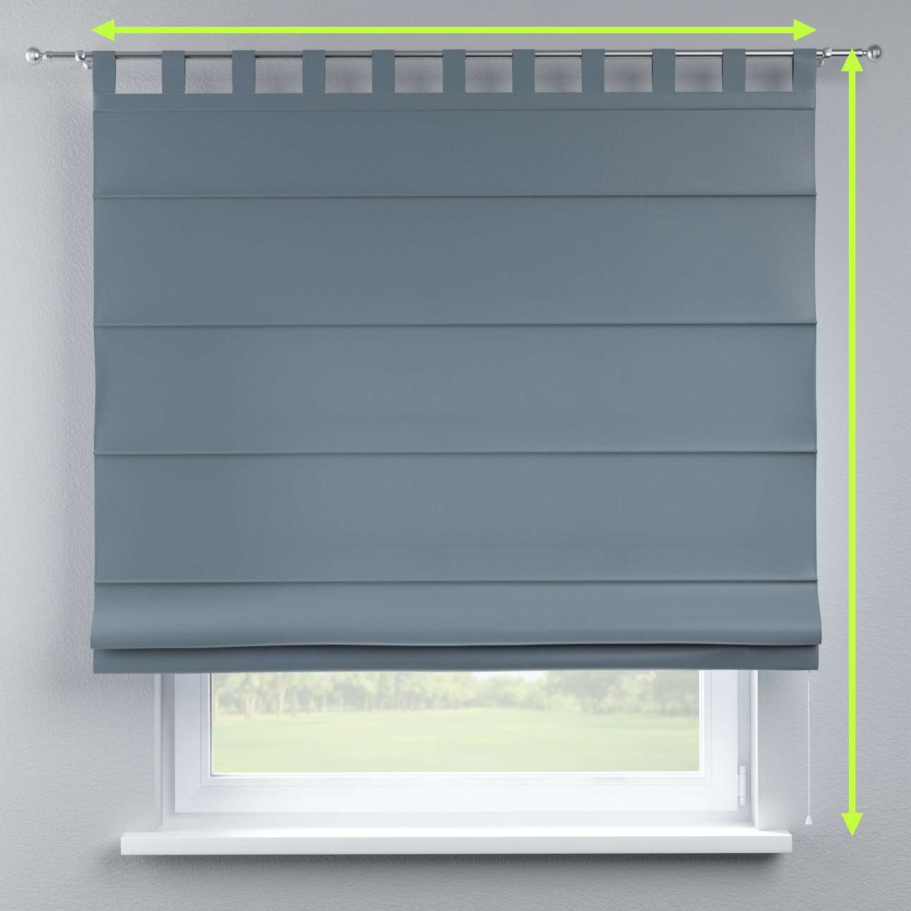 Verona tab top roman blind in collection Milano, fabric: 150-37