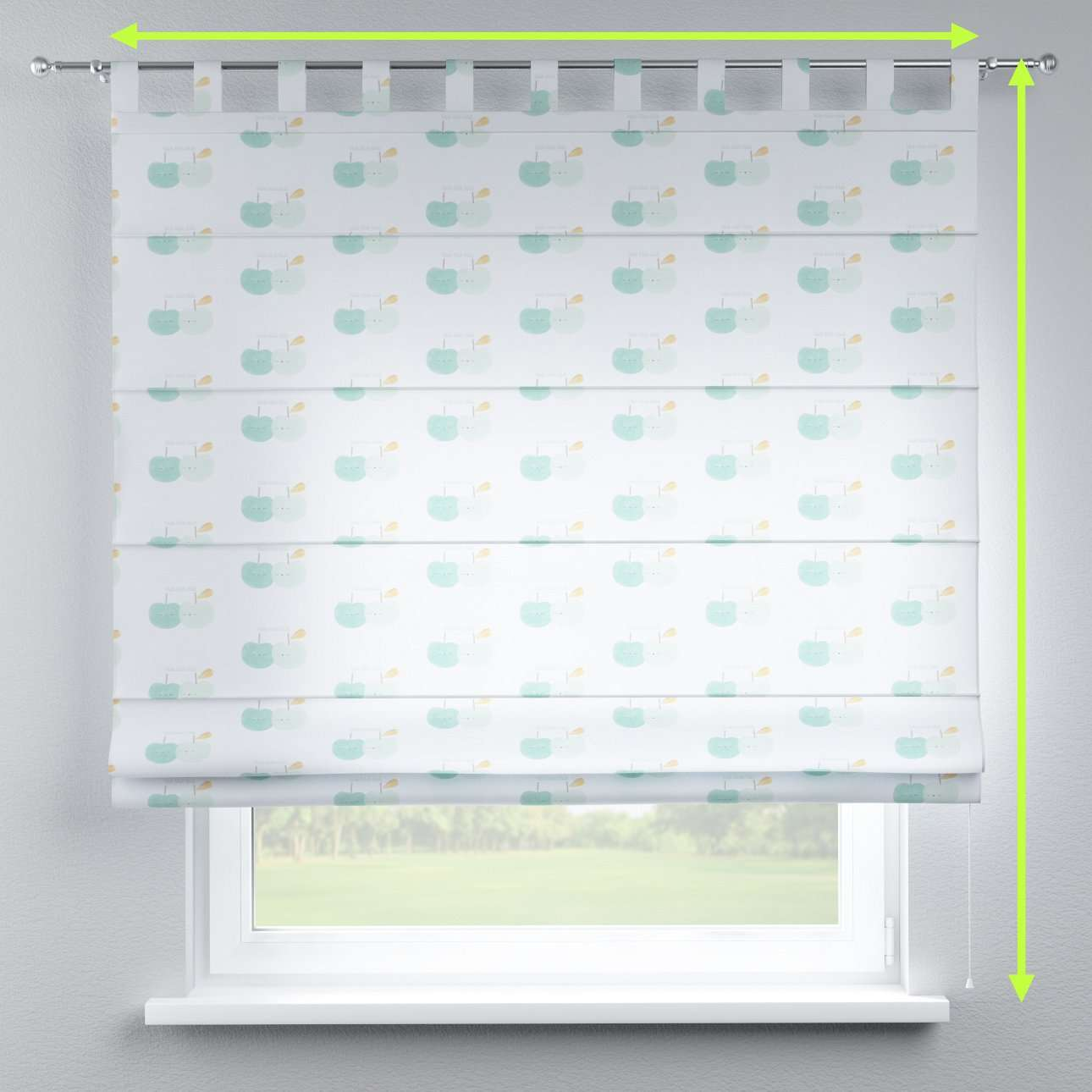 Verona tab top roman blind in collection Apanona, fabric: 151-02