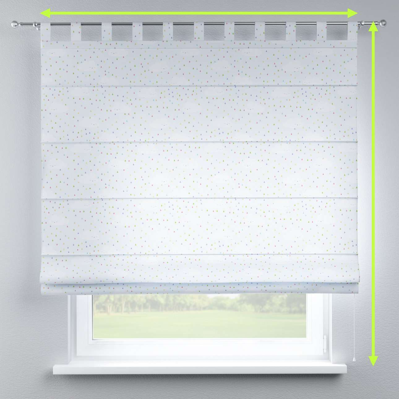 Verona tab top roman blind in collection Apanona, fabric: 151-03