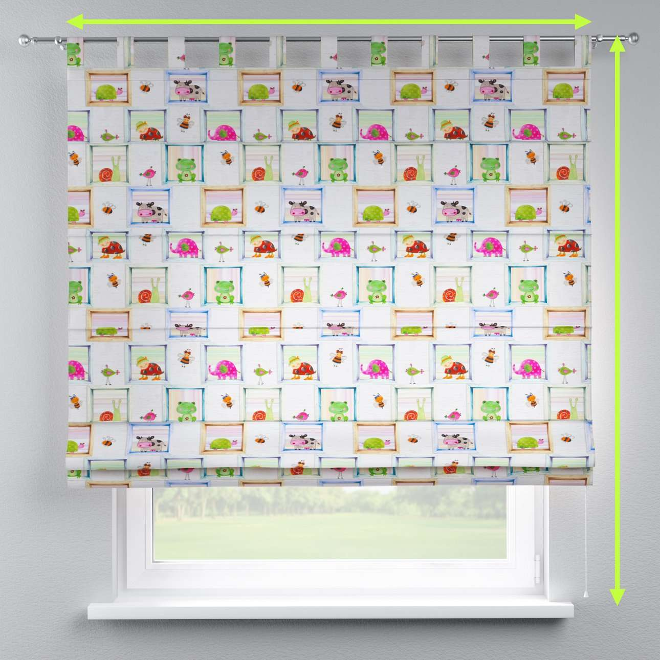 Verona tab top roman blind in collection Apanona, fabric: 151-04