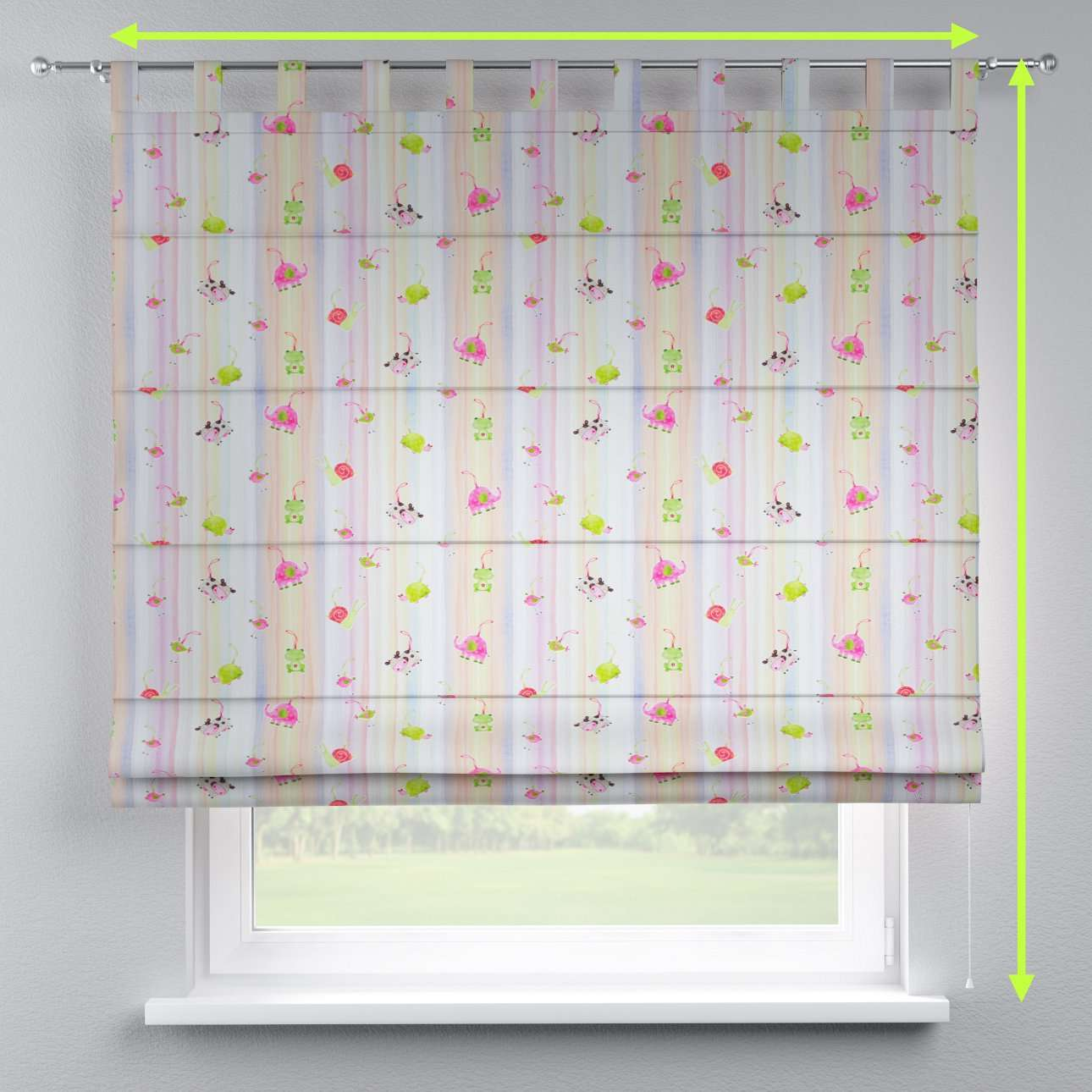 Verona tab top roman blind in collection Apanona, fabric: 151-05