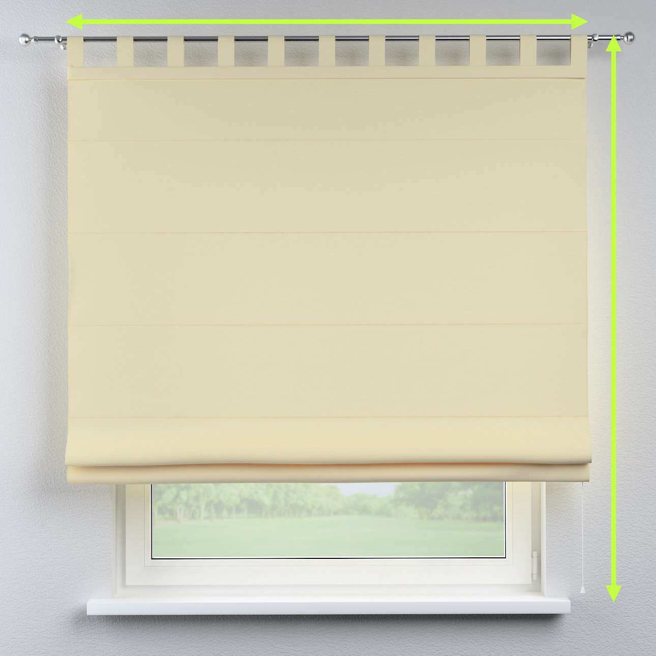 Verona tab top roman blind in collection Panama Cotton, fabric: 702-29