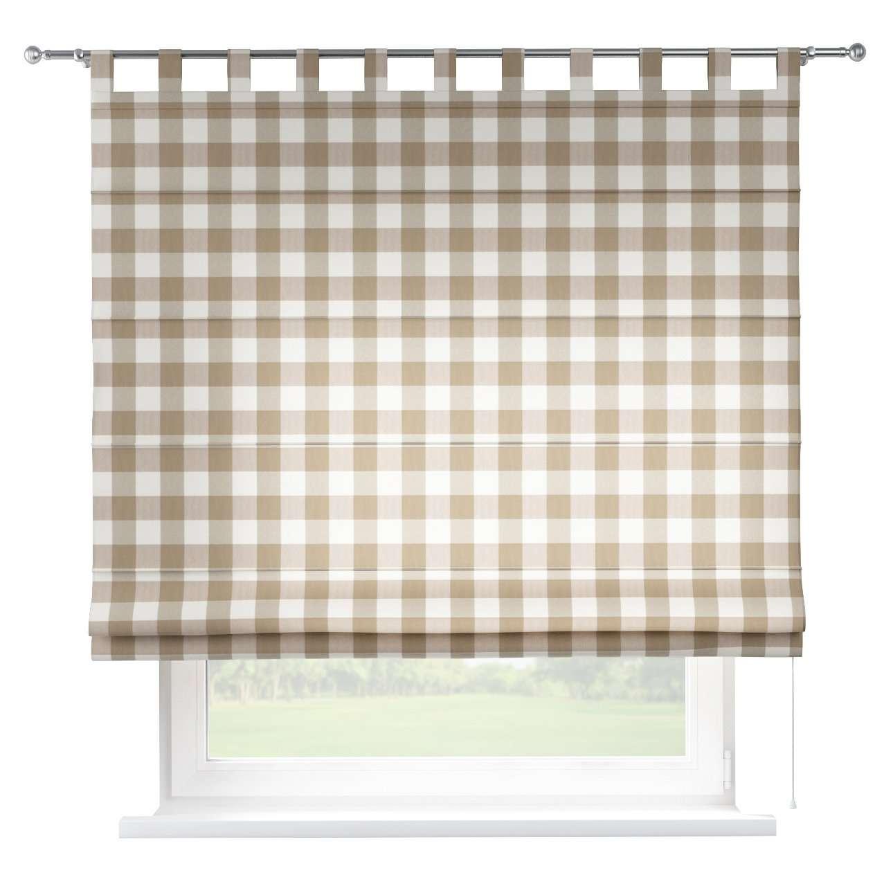 Verona tab top roman blind in collection Quadro, fabric: 136-08