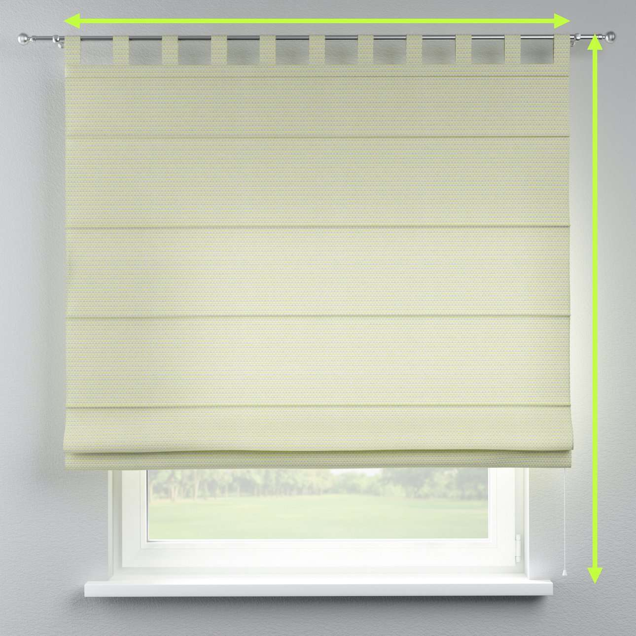Verona tab top roman blind in collection Rustica, fabric: 140-34