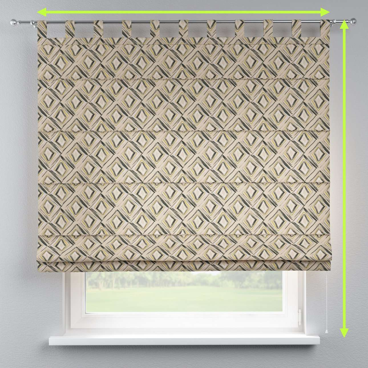 Verona tab top roman blind in collection Londres, fabric: 140-46