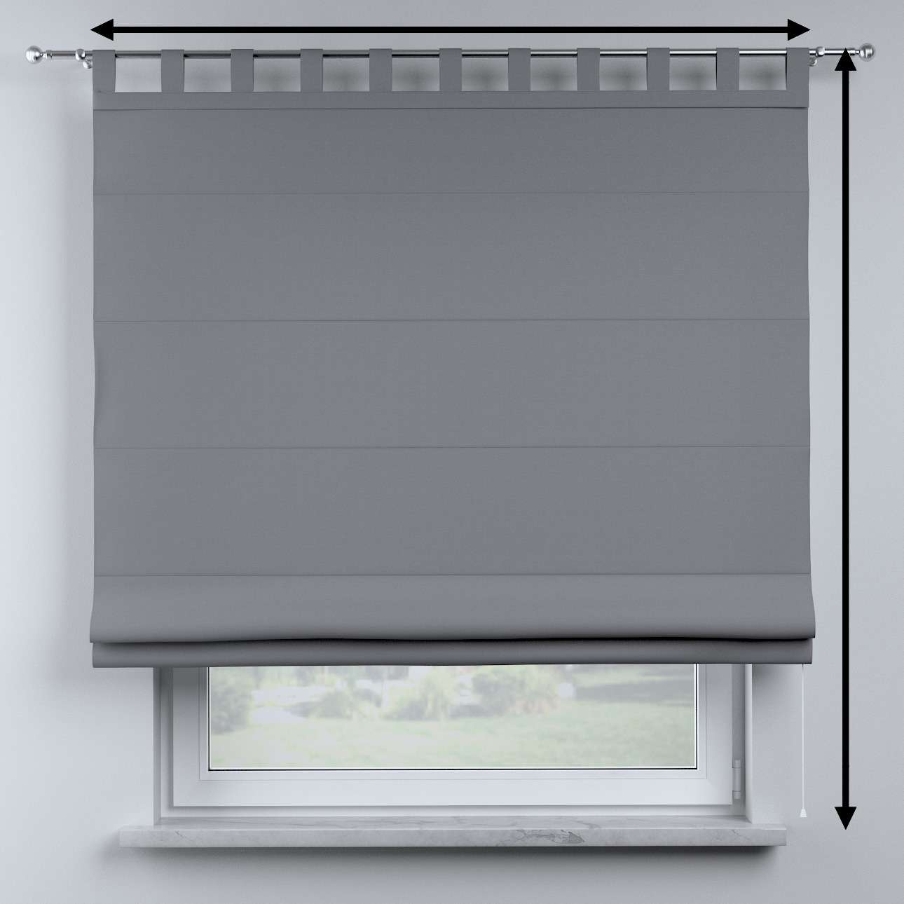 Oli tab top roman blind in collection Cotton Story, fabric: 702-07