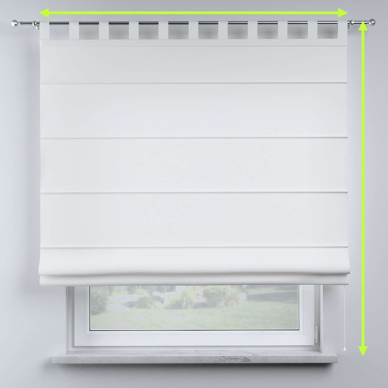 Oli tab top roman blind in collection Nature, fabric: 159-08