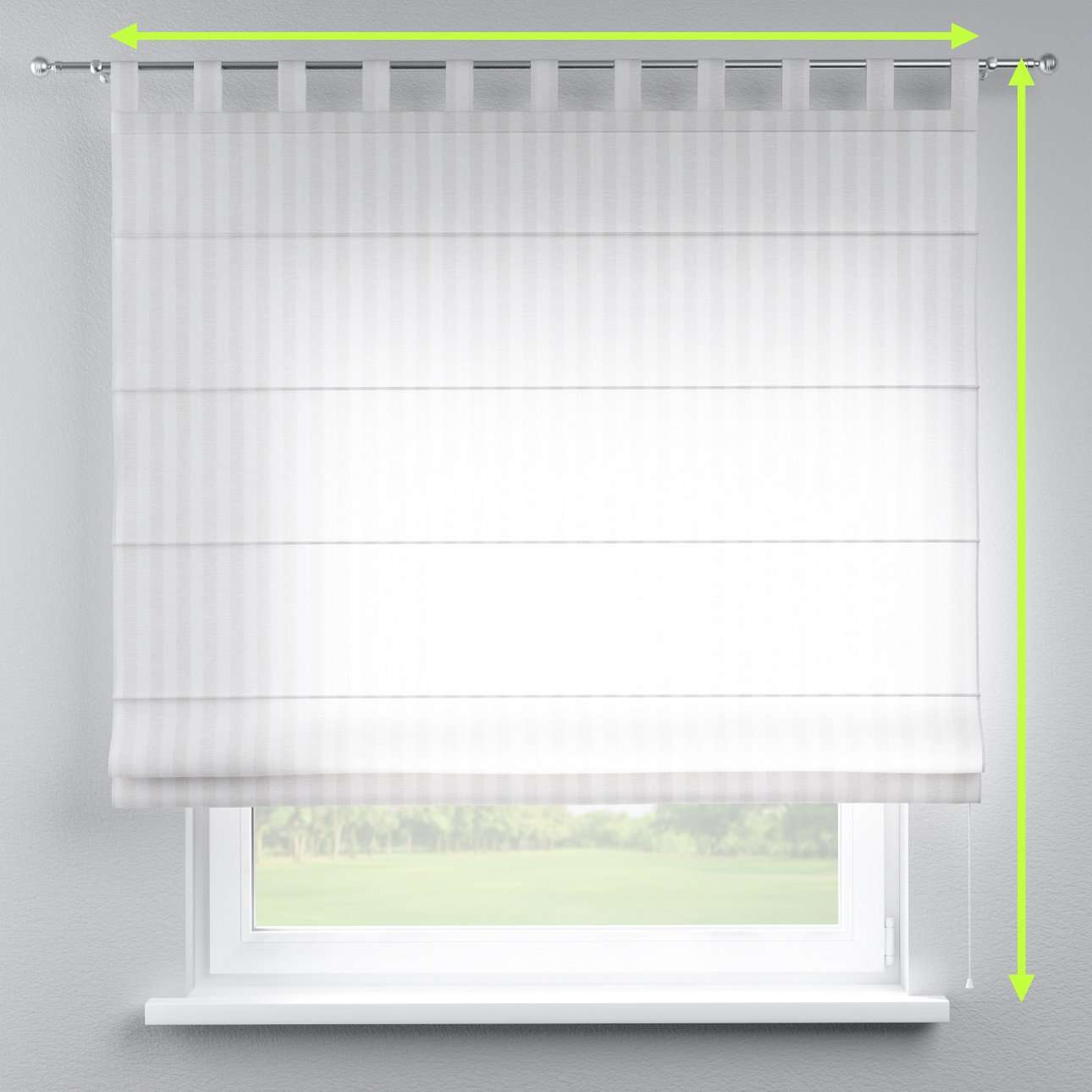 Verona tab top roman blind in collection Linen , fabric: 392-03