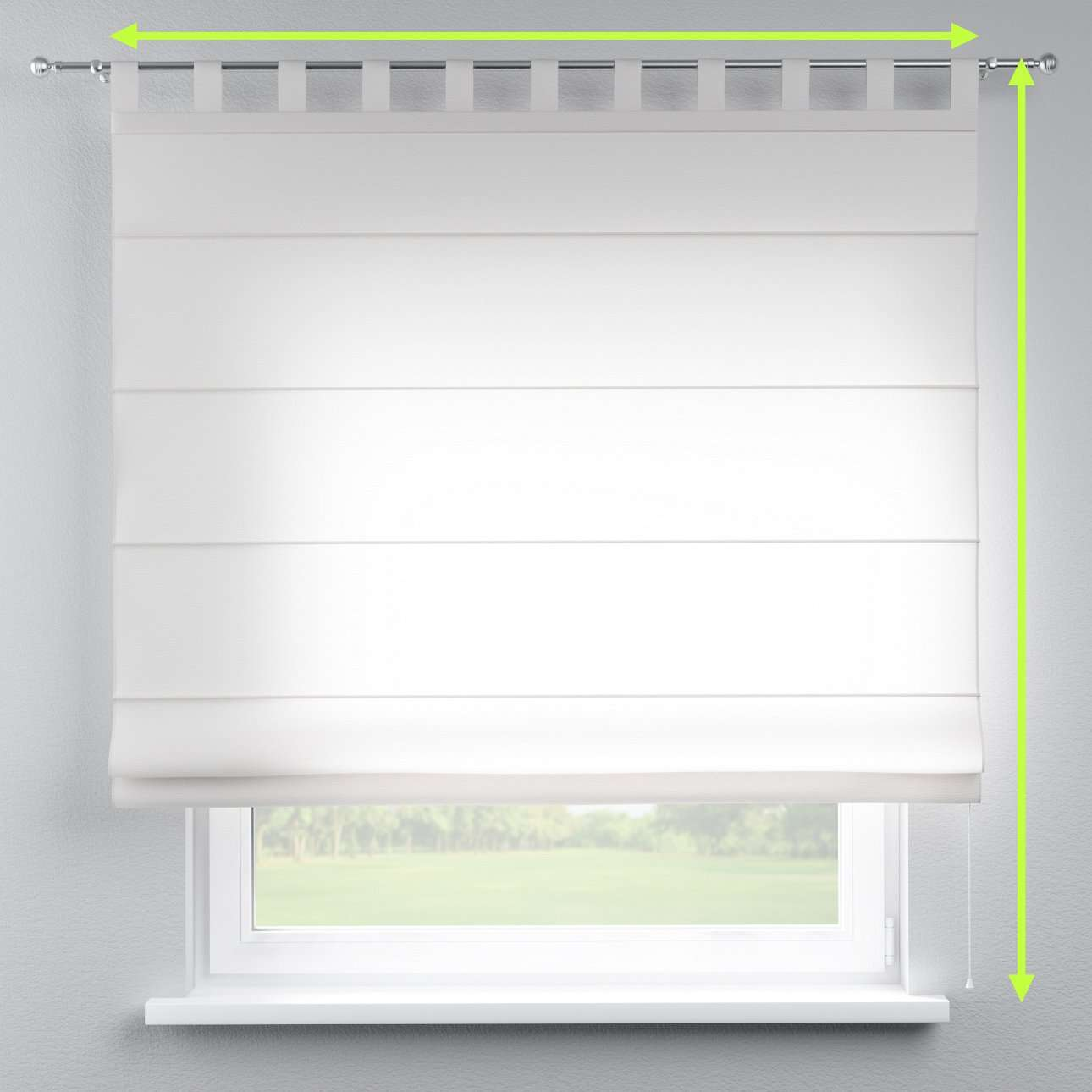 Verona tab top roman blind in collection Linen , fabric: 392-08