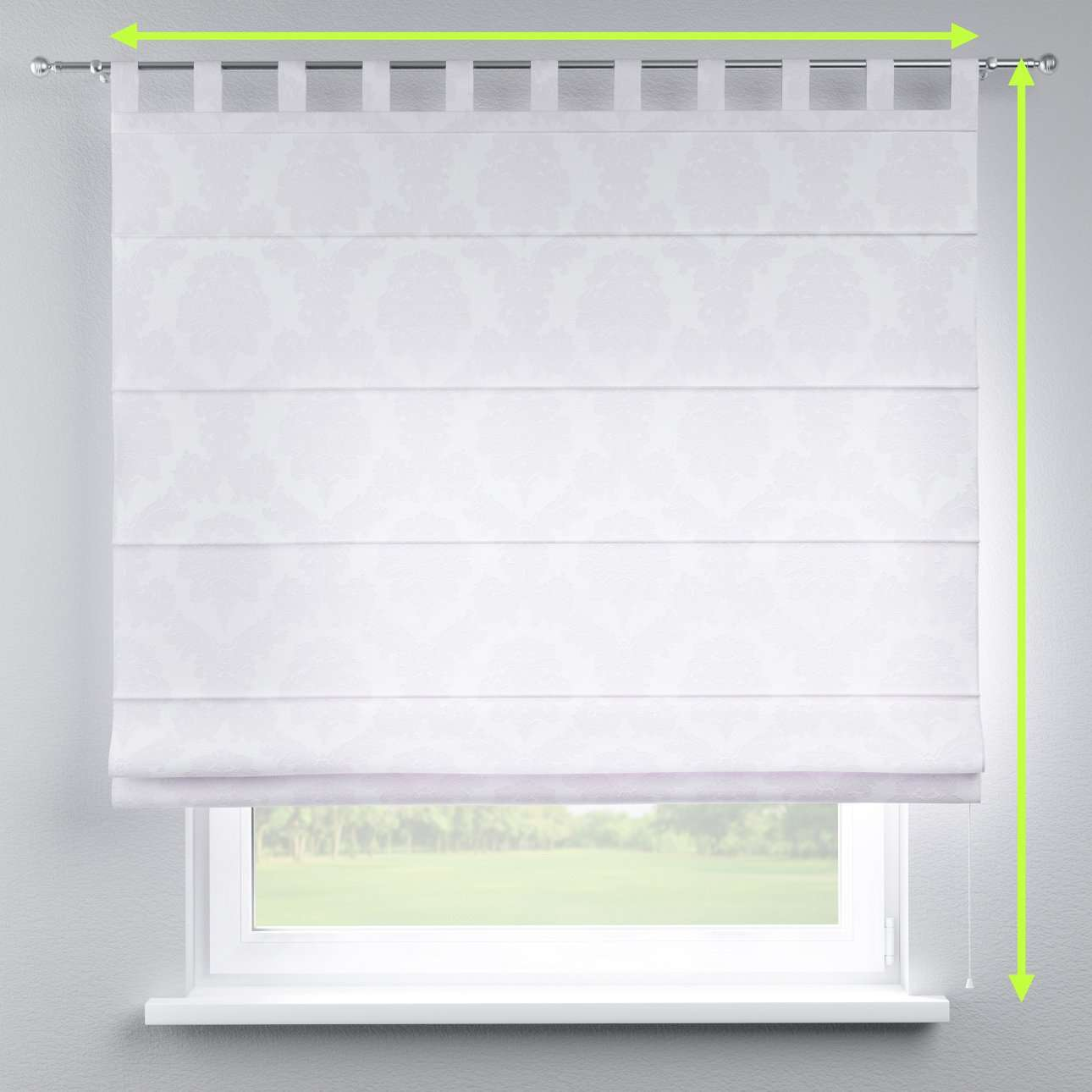 Verona tab top roman blind in collection Damasco, fabric: 613-00