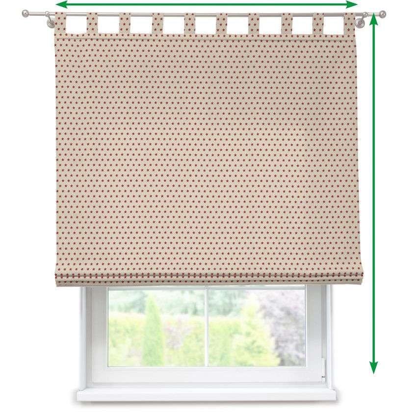 Verona tab top roman blind in collection Freestyle, fabric: 629-10