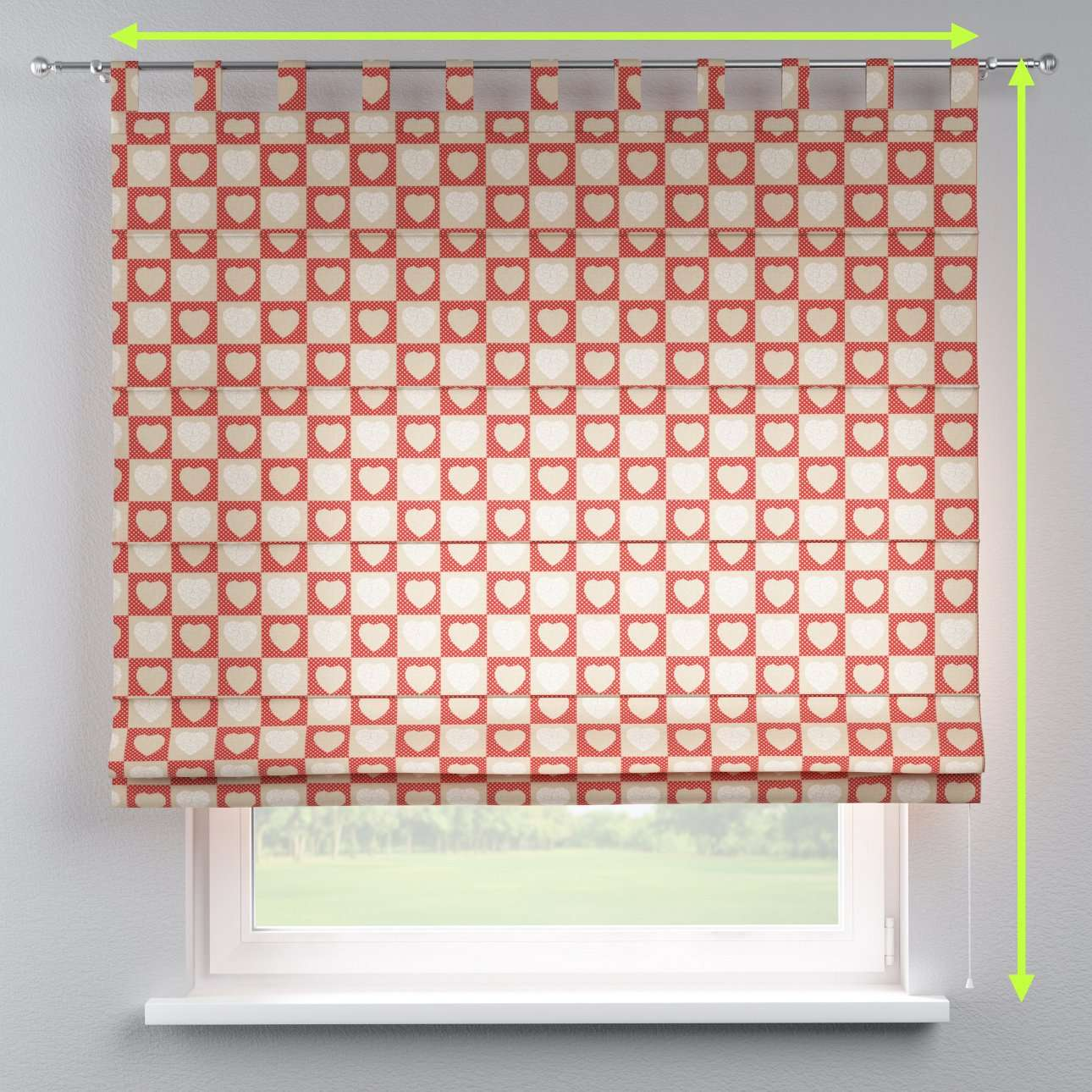 Verona tab top roman blind in collection Freestyle, fabric: 629-16