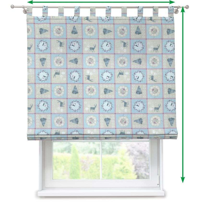Verona tab top roman blind in collection Christmas , fabric: 629-21