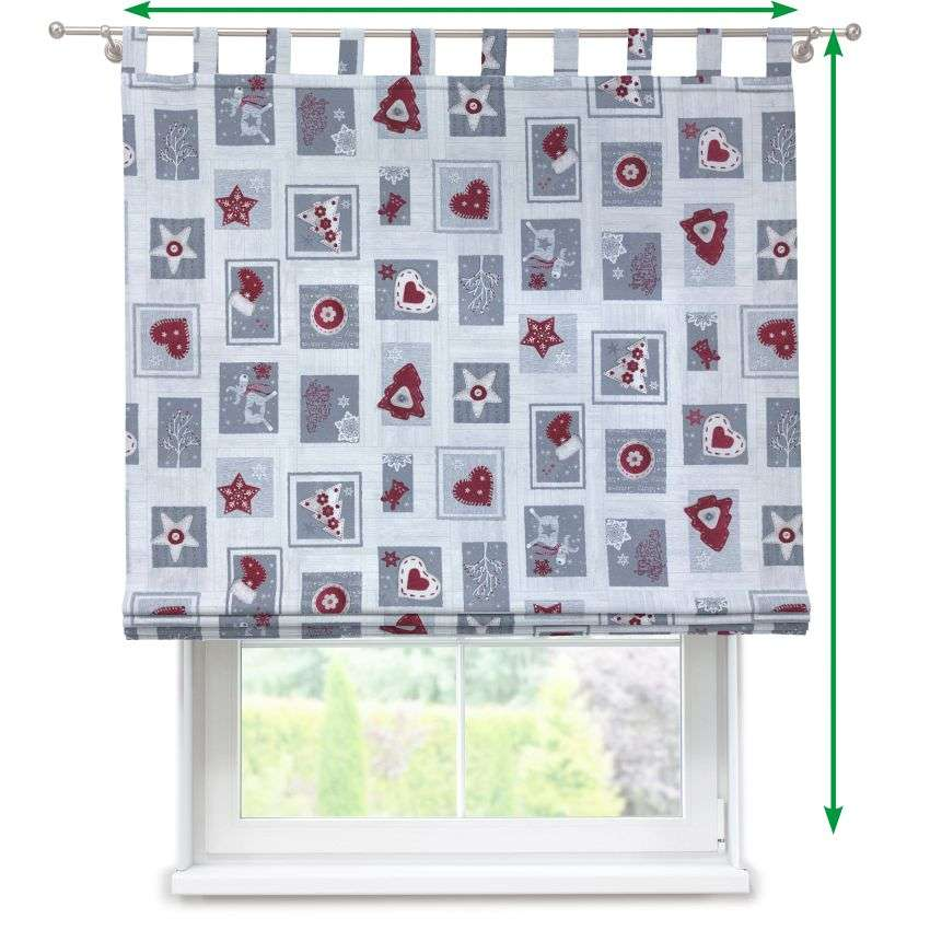 Verona tab top roman blind in collection Christmas , fabric: 629-23