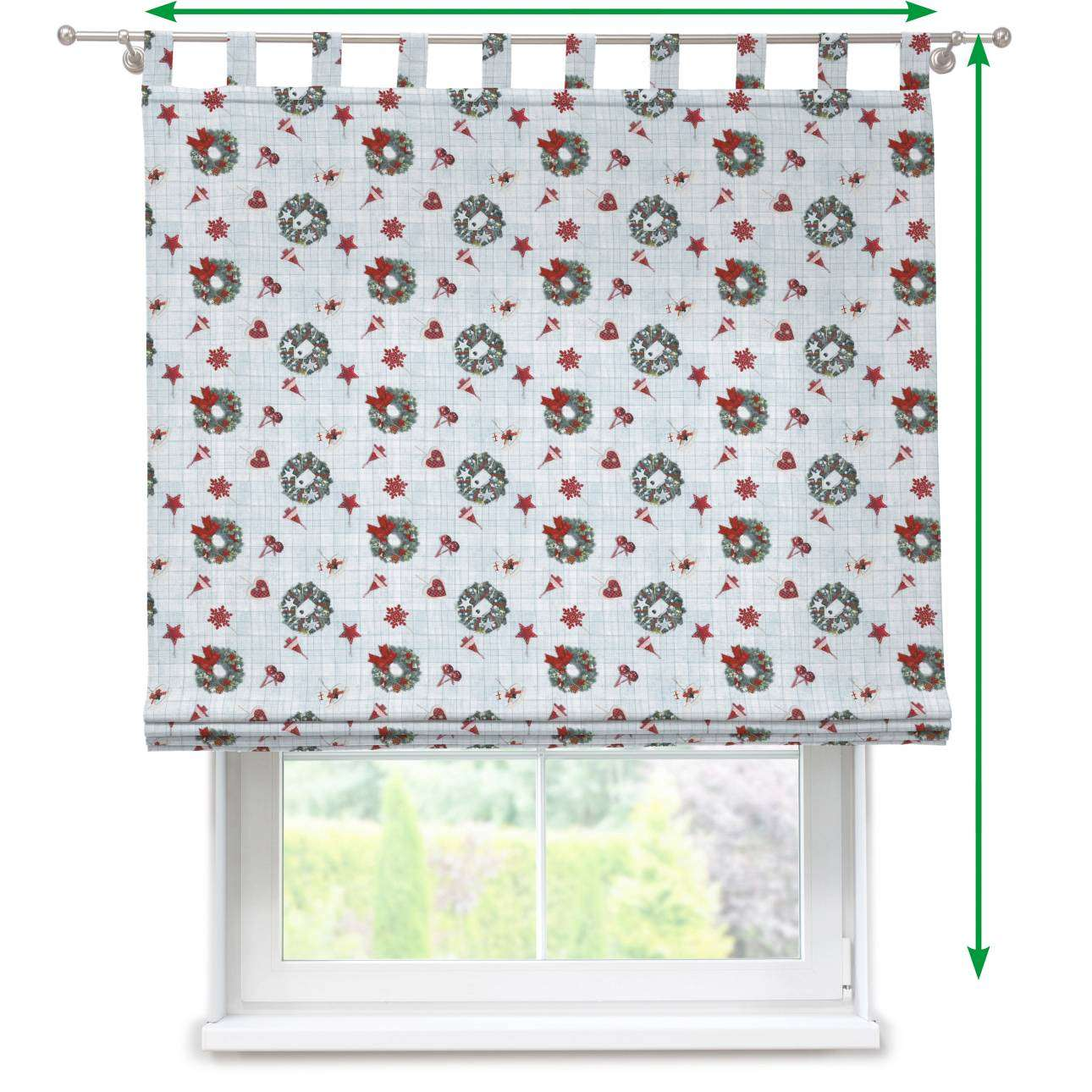Verona tab top roman blind in collection Christmas , fabric: 629-26