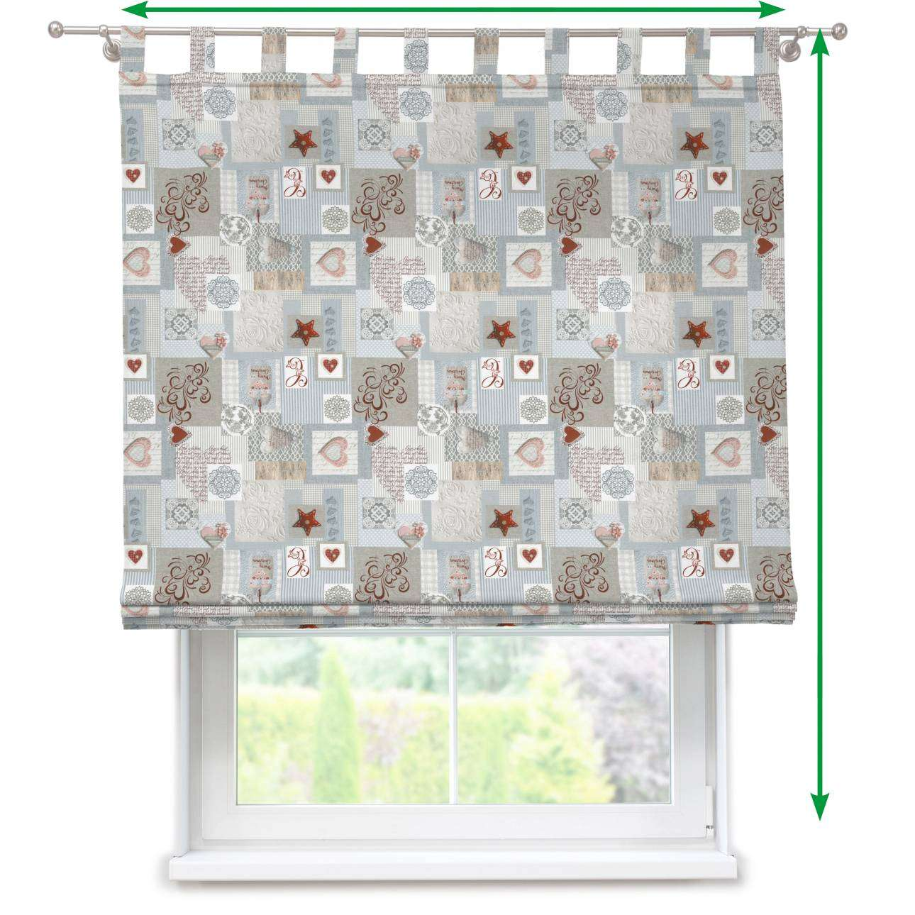 Verona tab top roman blind in collection Christmas , fabric: 629-27