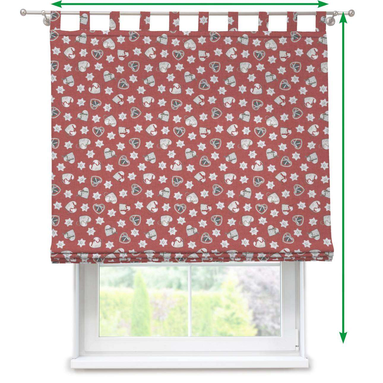 Verona tab top roman blind in collection Christmas , fabric: 629-29