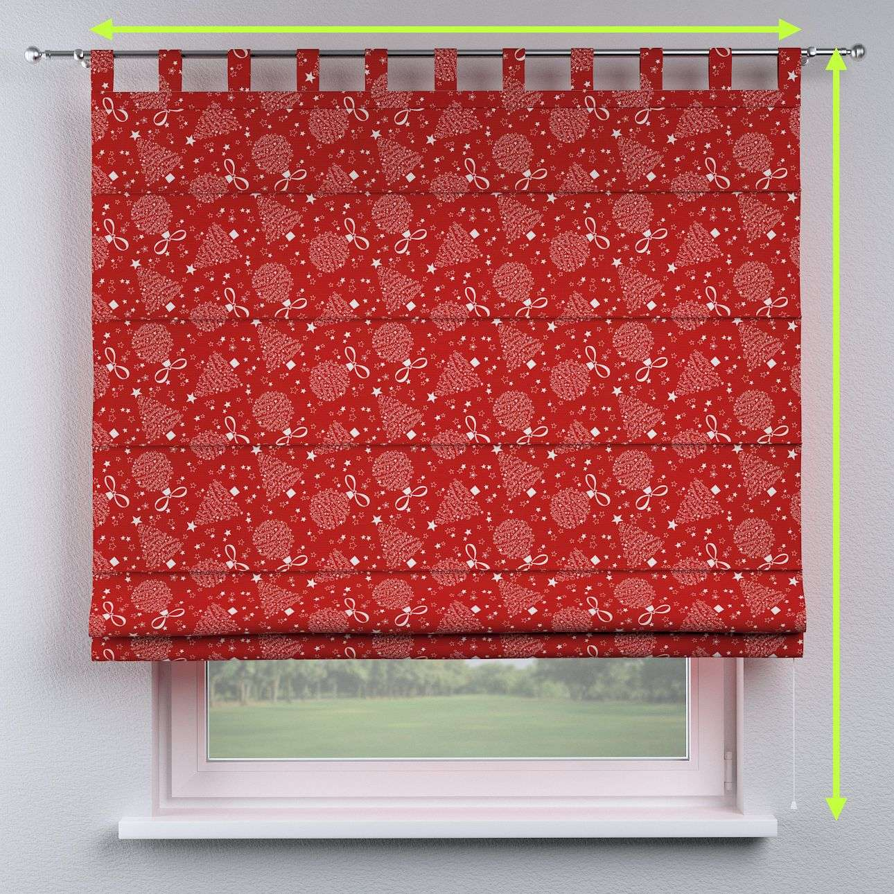 Verona tab top roman blind in collection Christmas, fabric: 629-32