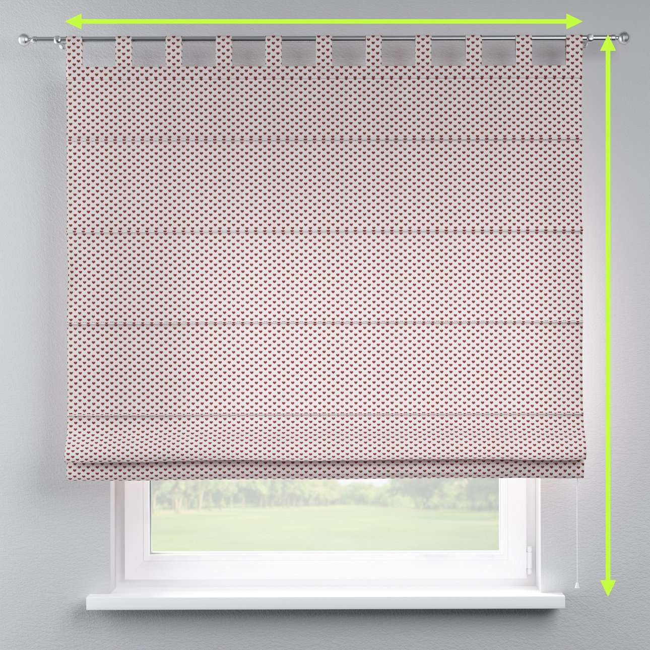 Verona tab top roman blind in collection Nordic, fabric: 630-04