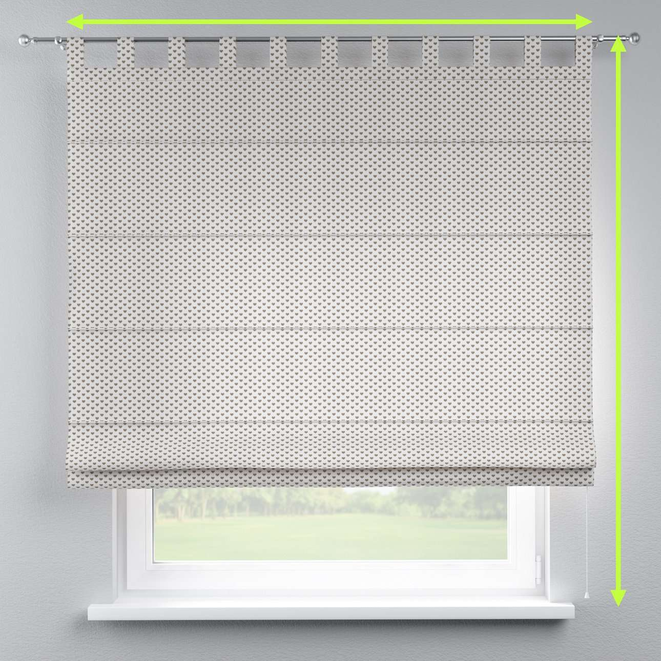 Verona tab top roman blind in collection Nordic, fabric: 630-08