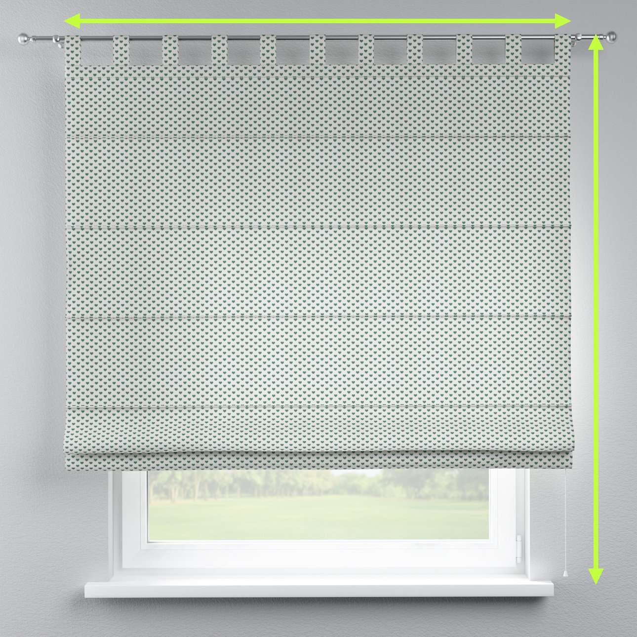Verona tab top roman blind in collection Nordic, fabric: 630-12