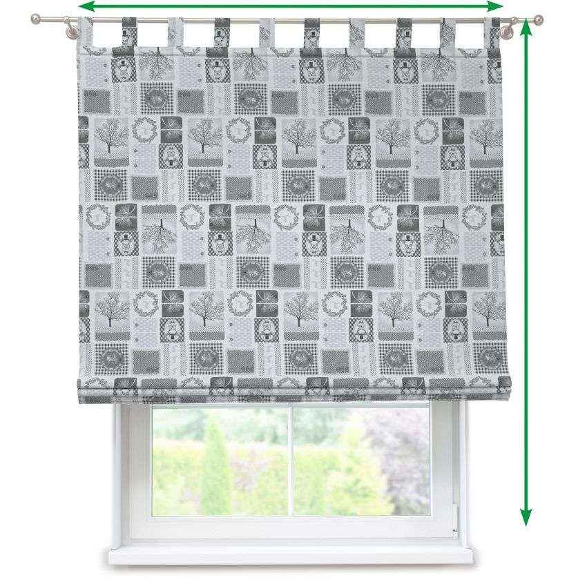 Verona tab top roman blind in collection Christmas , fabric: 630-20