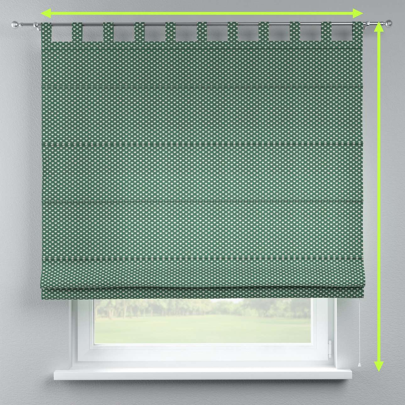 Verona tab top roman blind in collection Christmas , fabric: 630-21