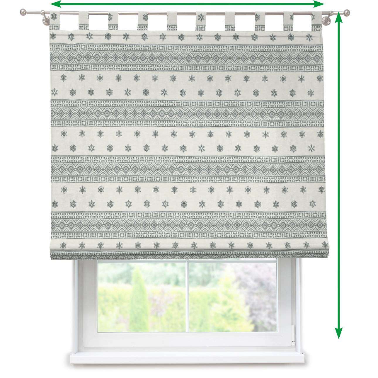 Verona tab top roman blind in collection Christmas , fabric: 630-25
