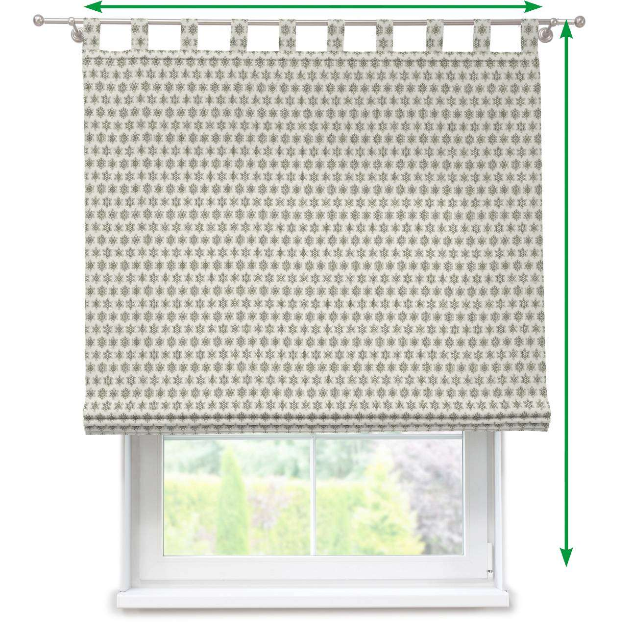 Verona tab top roman blind in collection Christmas , fabric: 630-26