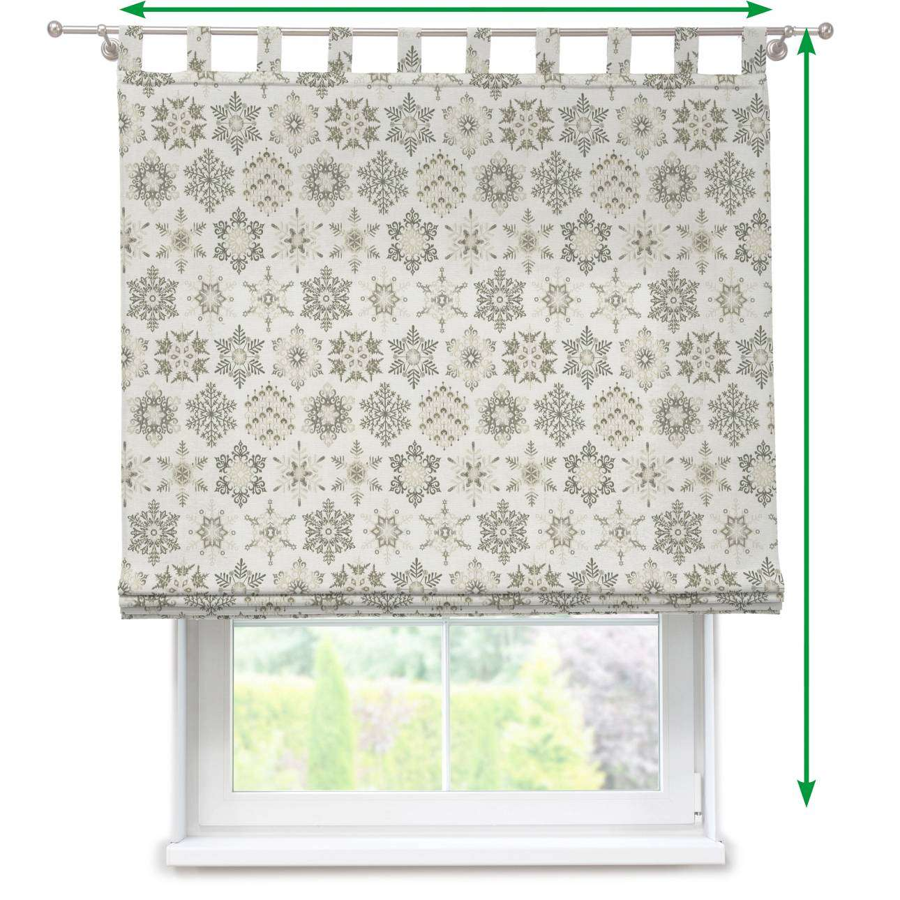 Verona tab top roman blind in collection Christmas , fabric: 630-27