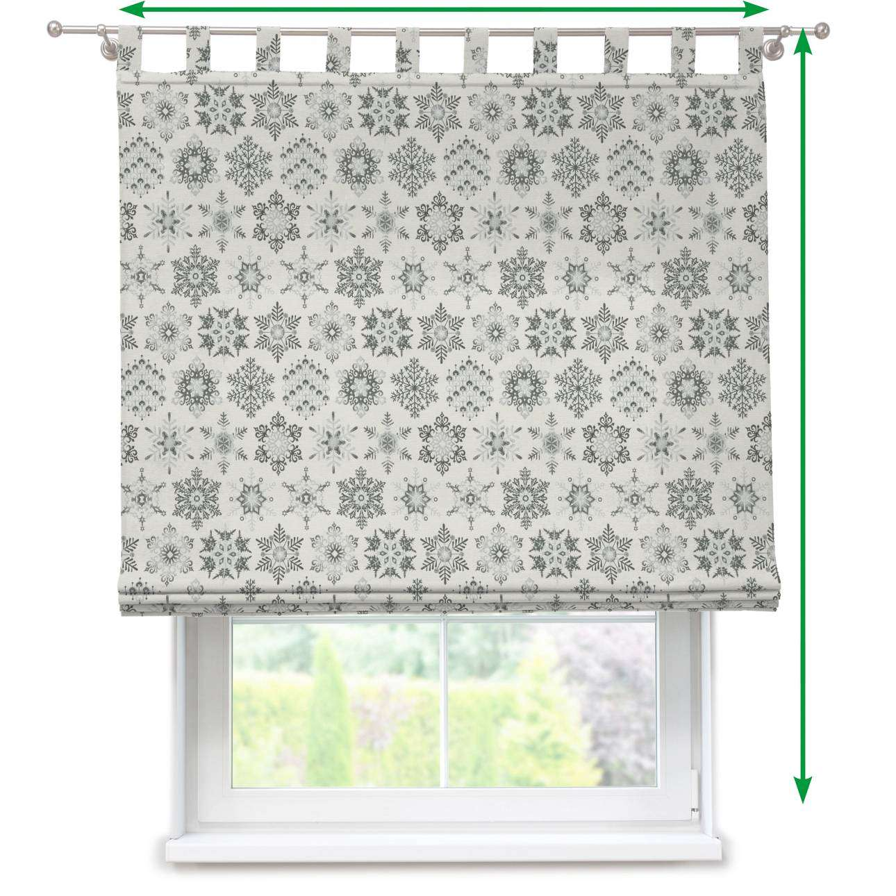 Verona tab top roman blind in collection Christmas , fabric: 630-29
