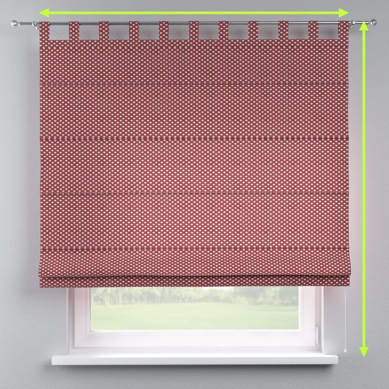 Verona tab top roman blind in collection SALE, fabric: 630-40