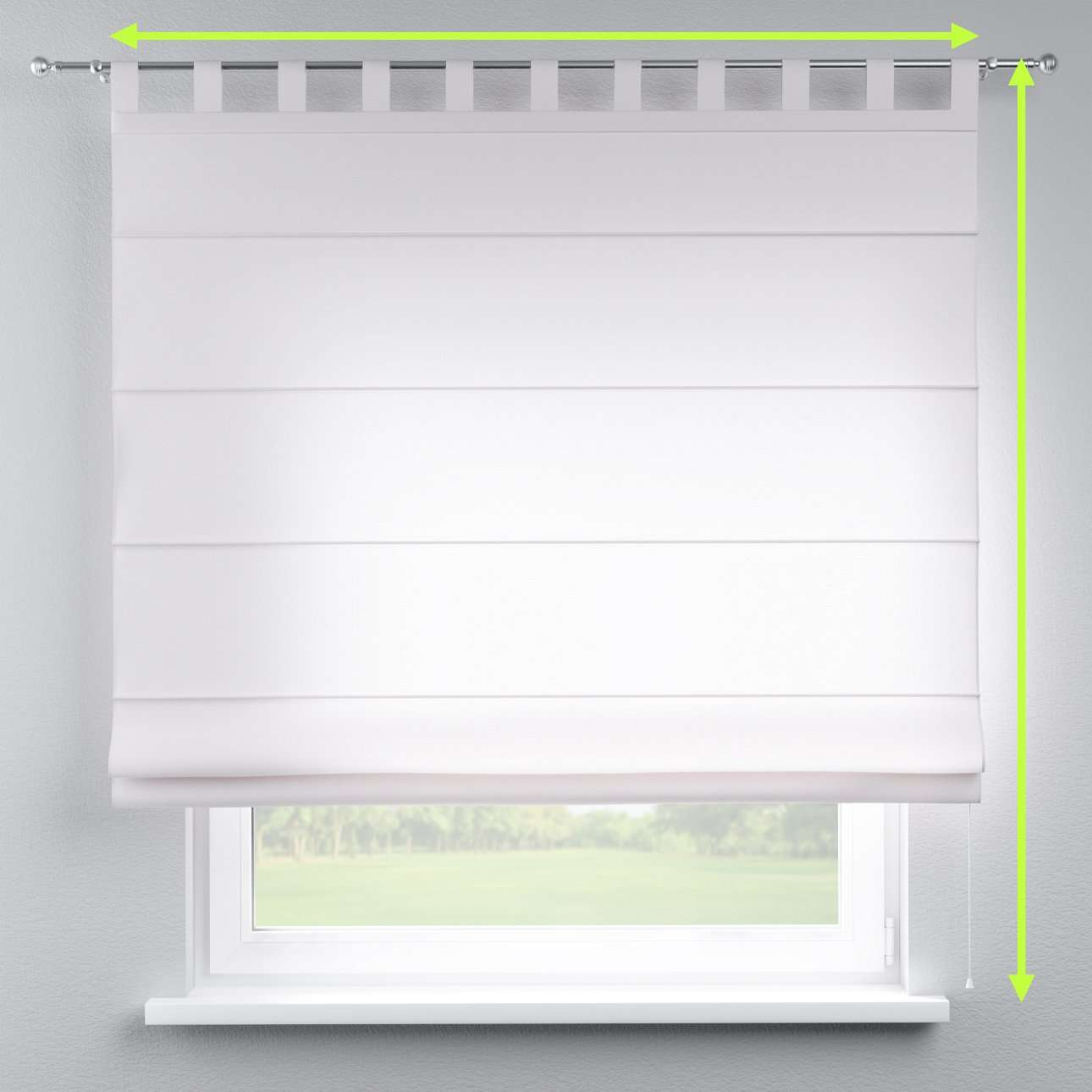 Verona tab top roman blind in collection Panama Cotton, fabric: 702-00