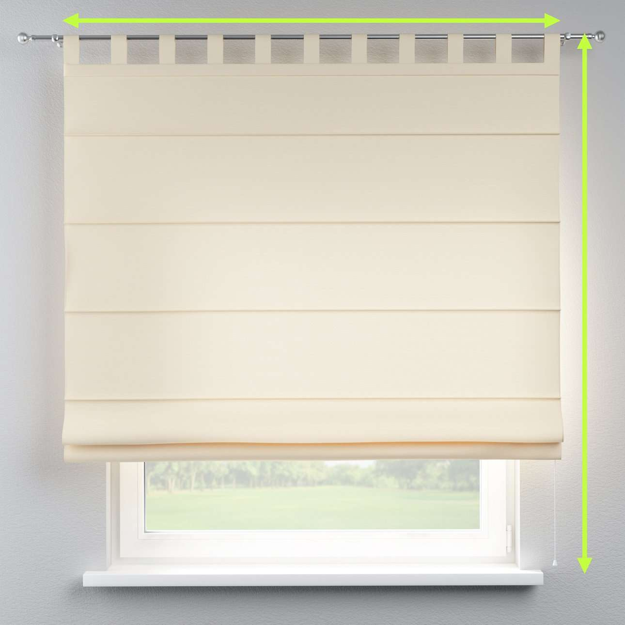 Verona tab top roman blind in collection Cotton Panama, fabric: 702-29