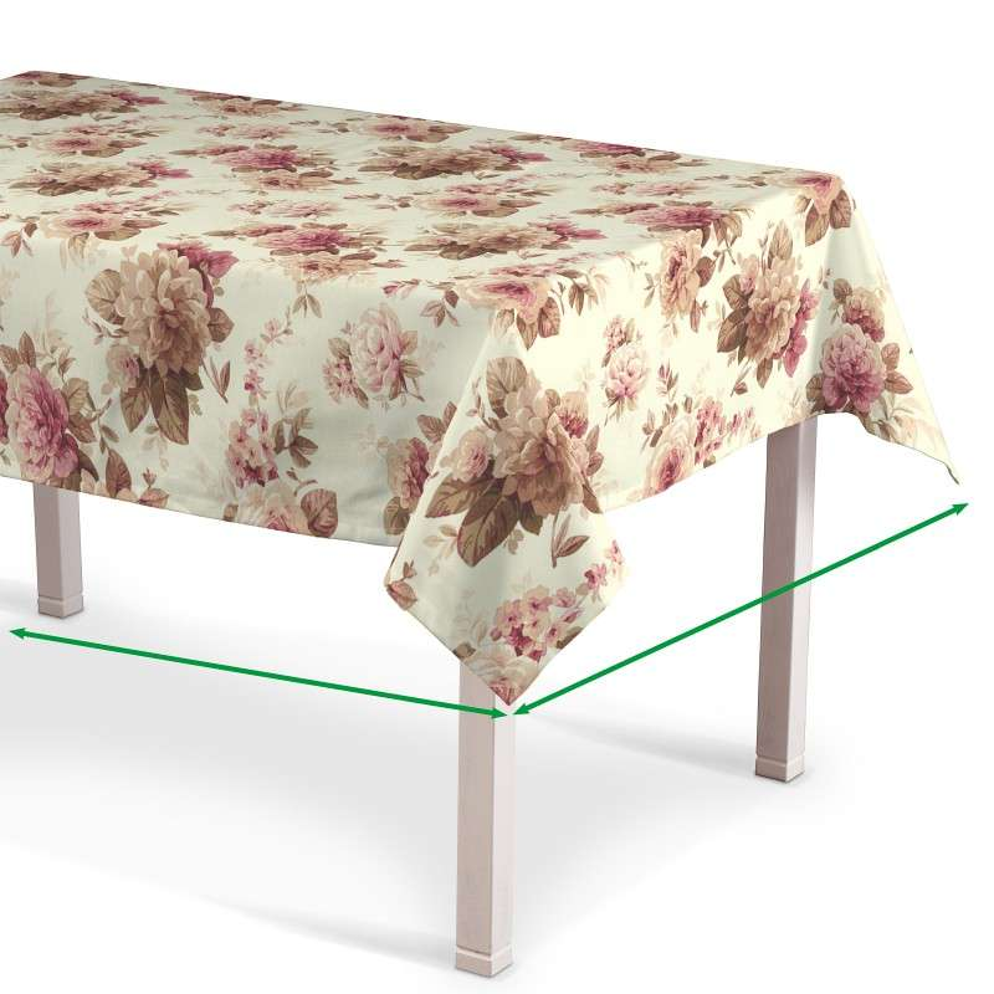 Rektangulære borddug fra kollektionen Mirella, Stof: 141-06
