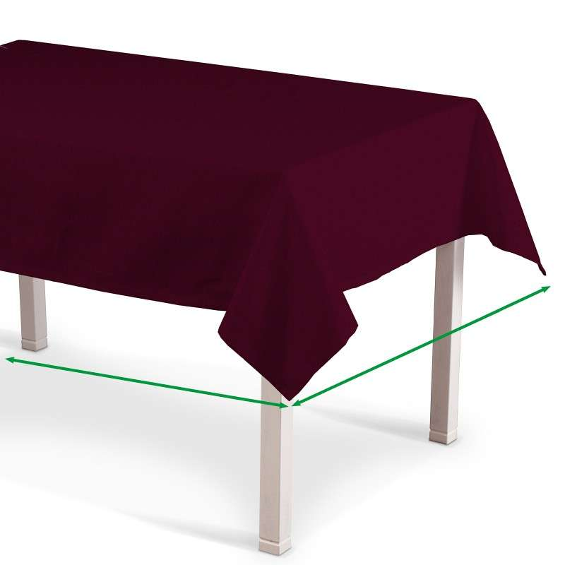Rectangular tablecloth in collection Jupiter, fabric: 127-20
