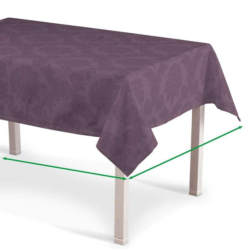 Rectangular tablecloth in collection Damasco, fabric: 613-75