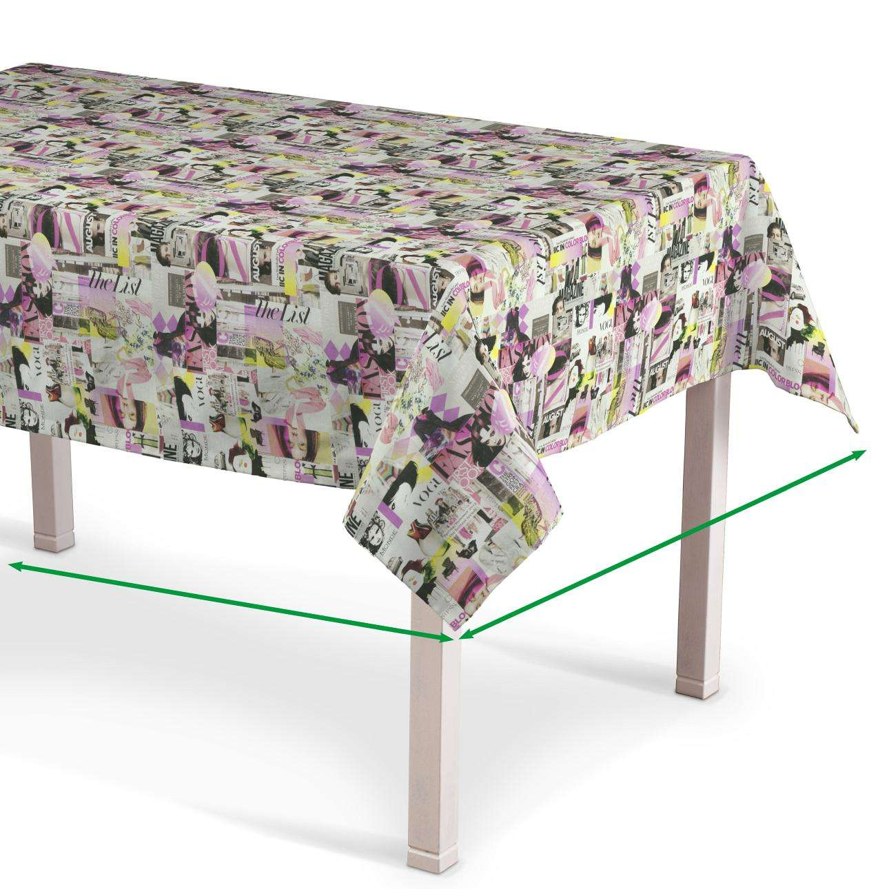 Rectangular tablecloth in collection Freestyle, fabric: 135-15