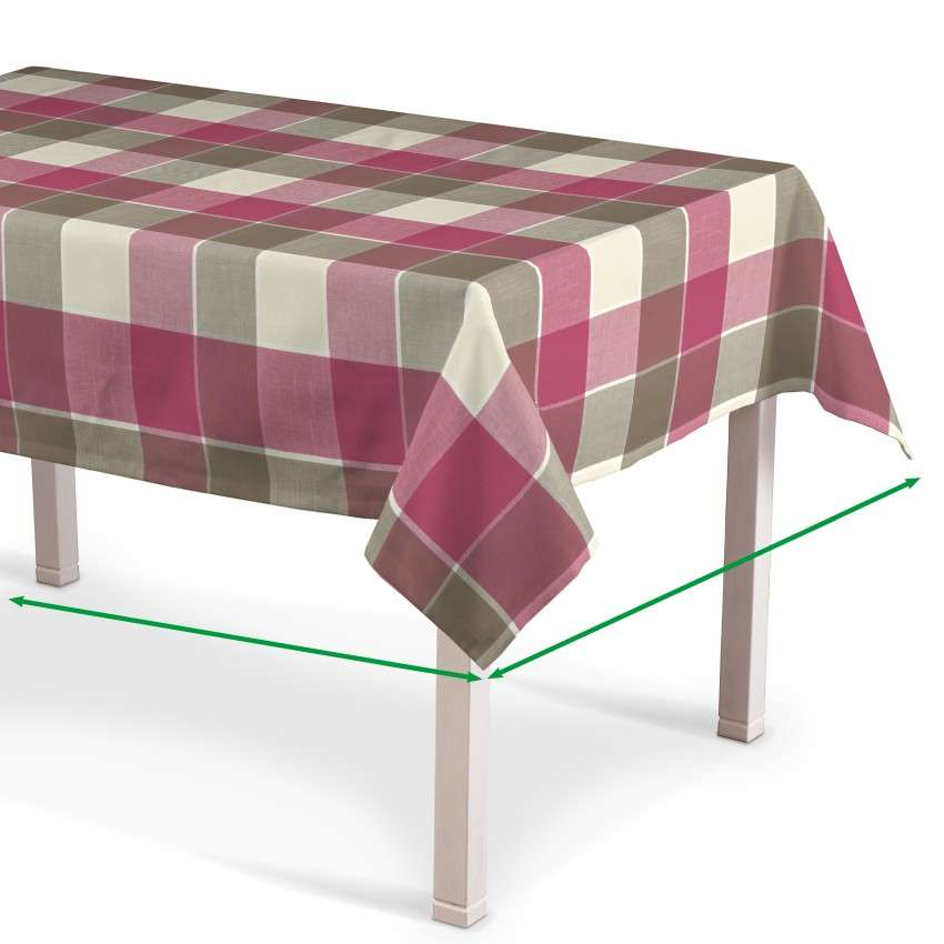 Rectangular tablecloth in collection Cardiff, fabric: 136-31