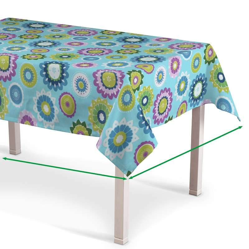 Rectangular tablecloth in collection Fleur , fabric: 137-20