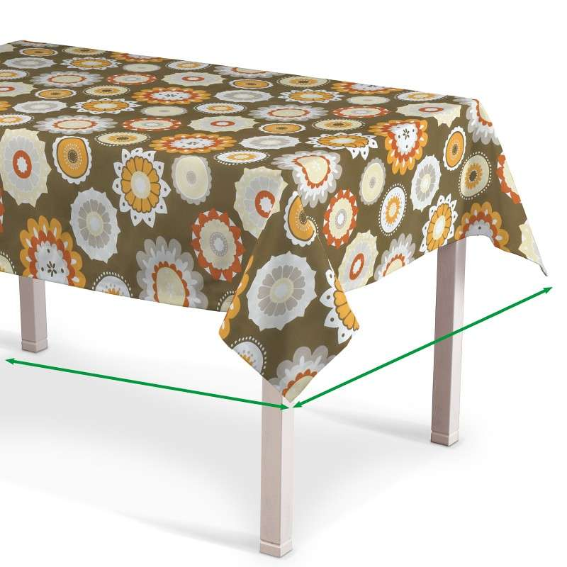 Rectangular tablecloth in collection Fleur , fabric: 137-26