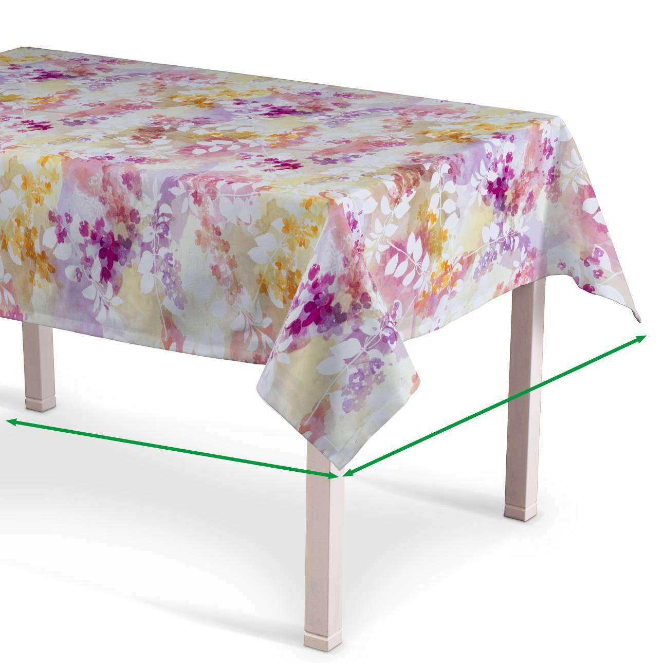 Rectangular tablecloth in collection Monet, fabric: 140-05