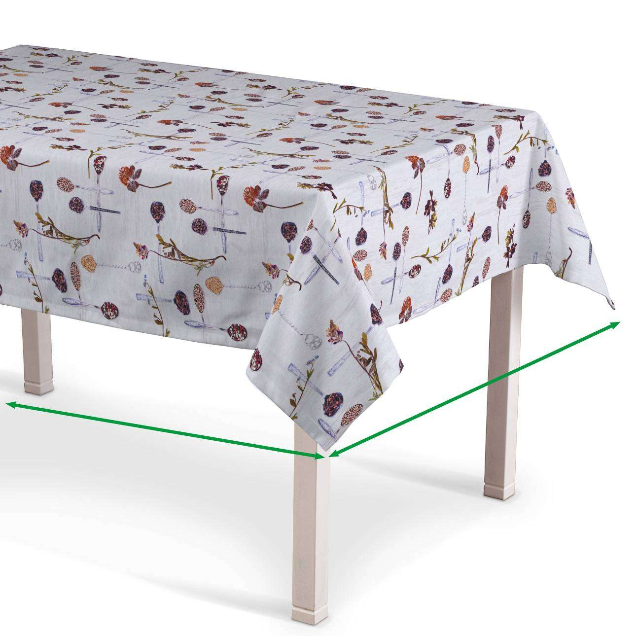 Rectangular tablecloth in collection Flowers, fabric: 140-11