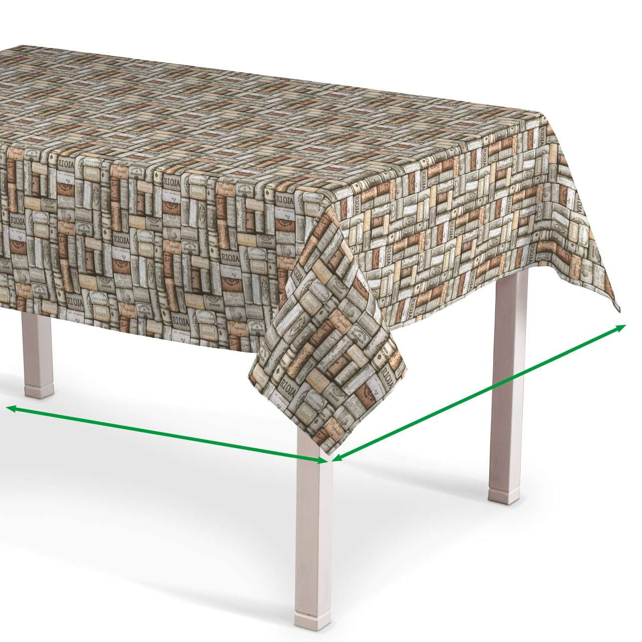 Rectangular tablecloth in collection Marina, fabric: 140-13
