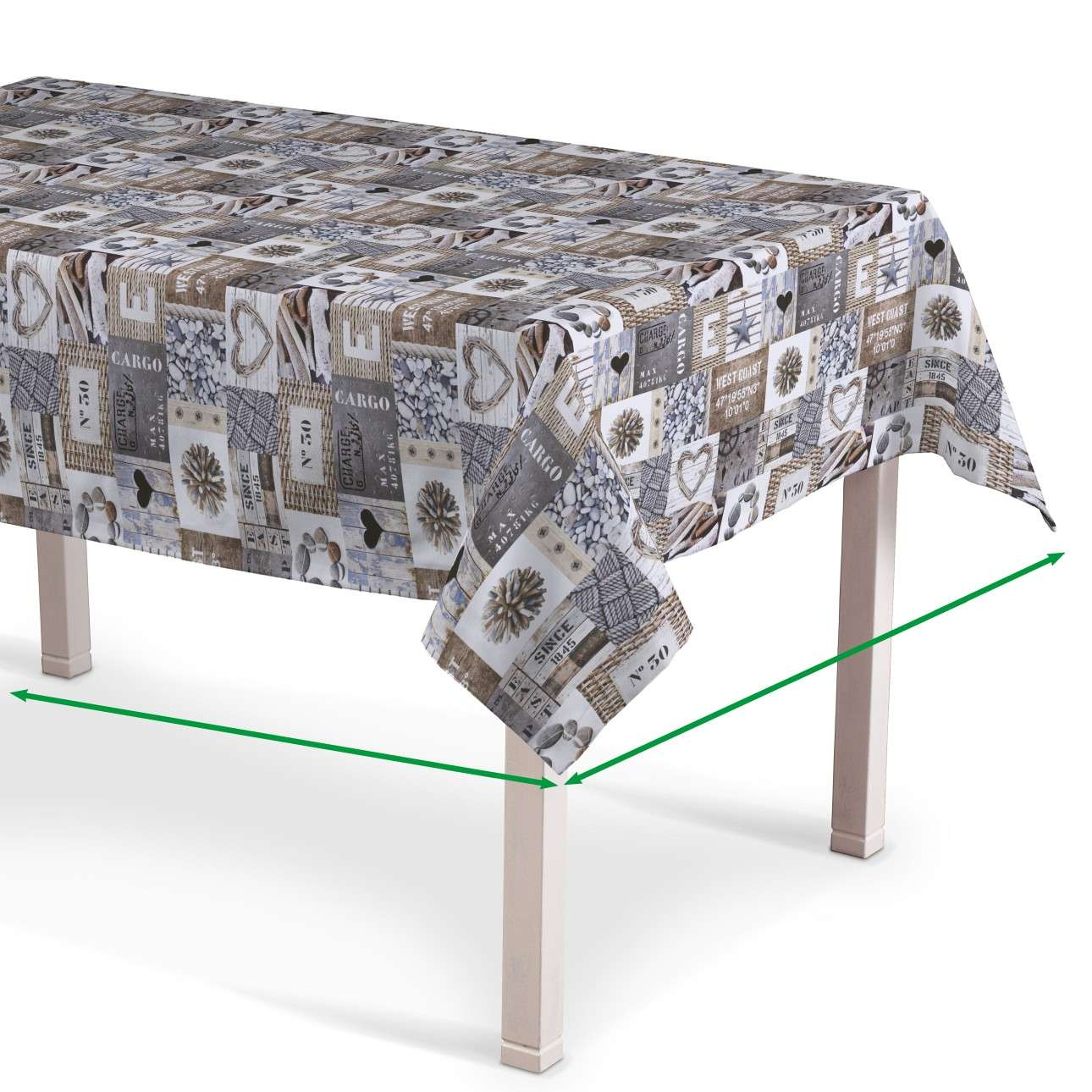 Rectangular tablecloth in collection Marina, fabric: 140-15