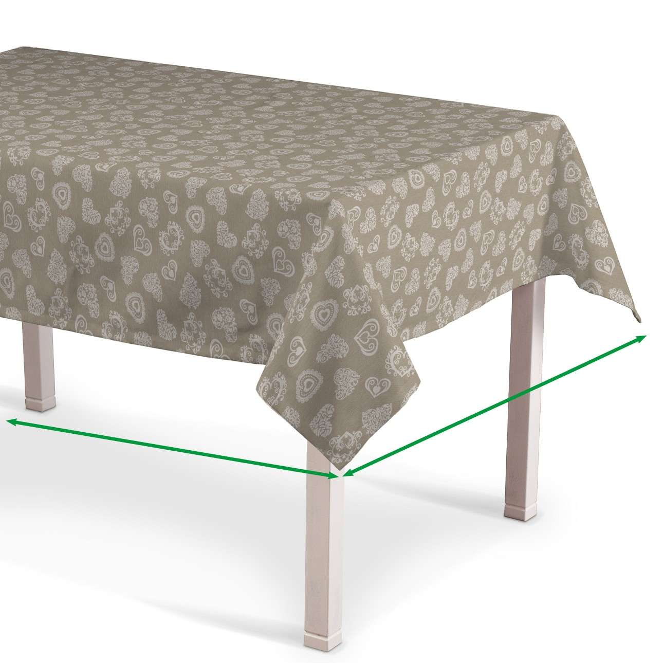Rectangular tablecloth in collection Flowers, fabric: 140-56