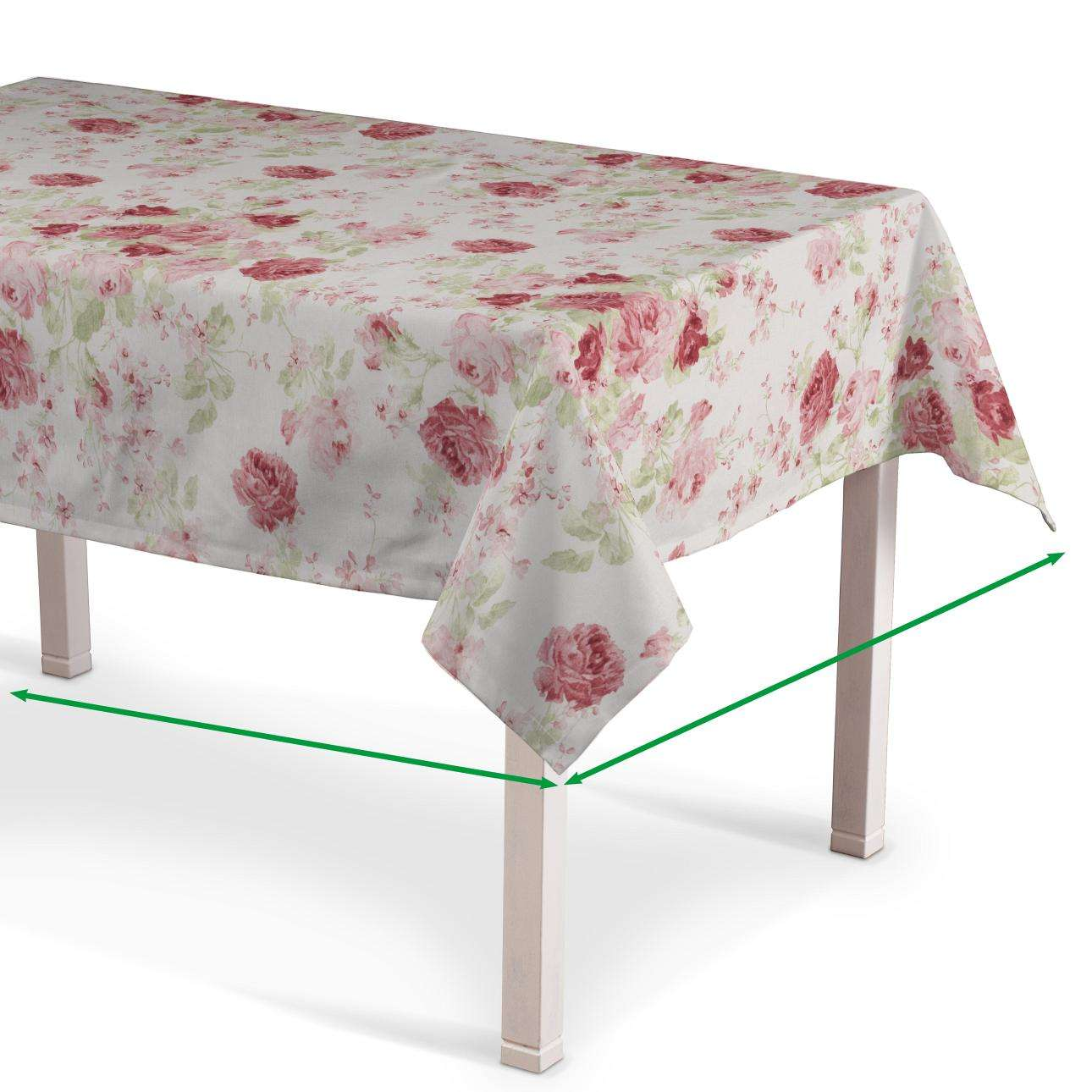 Rectangular tablecloth in collection Flowers, fabric: 140-90