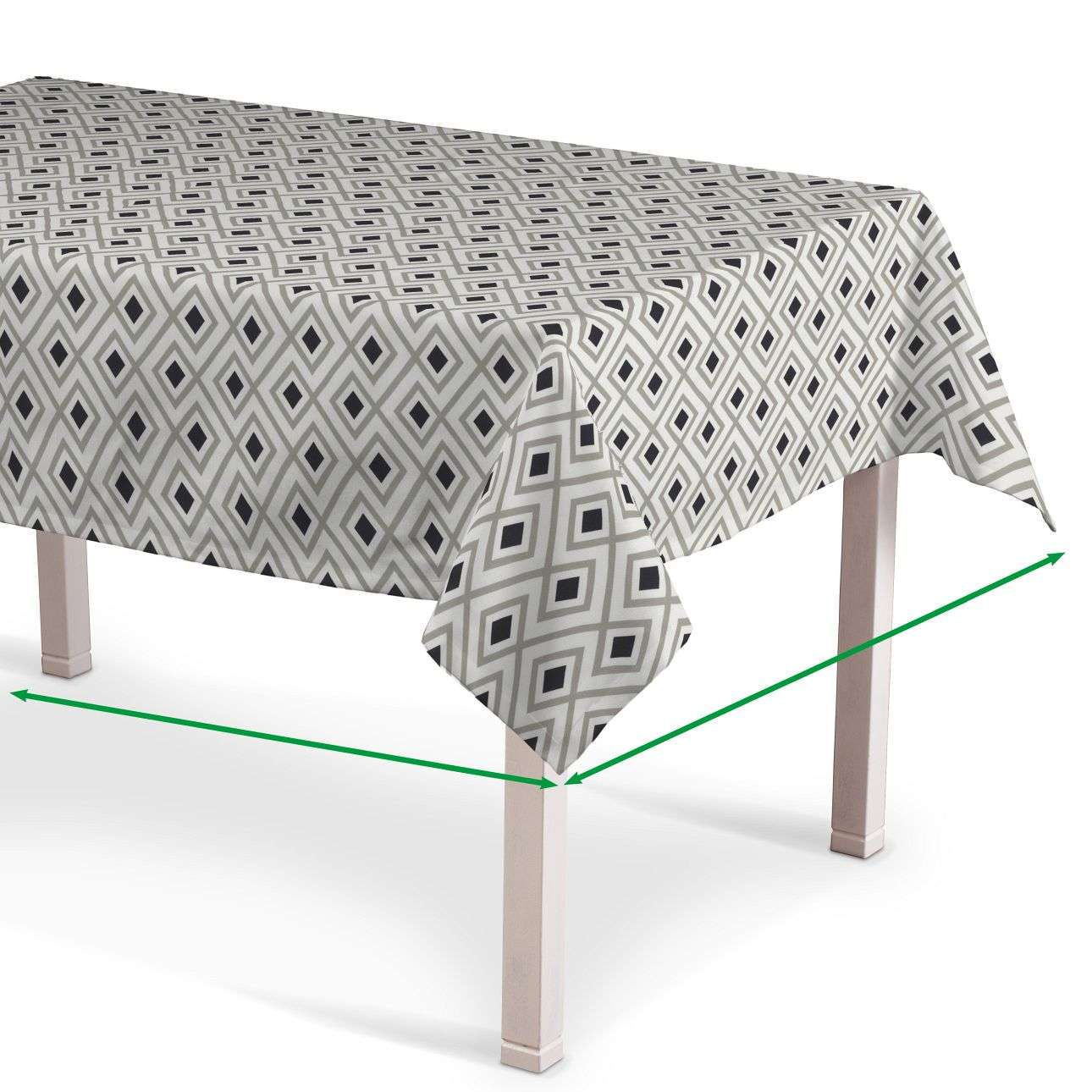 Rectangular tablecloth in collection Geometric, fabric: 141-44