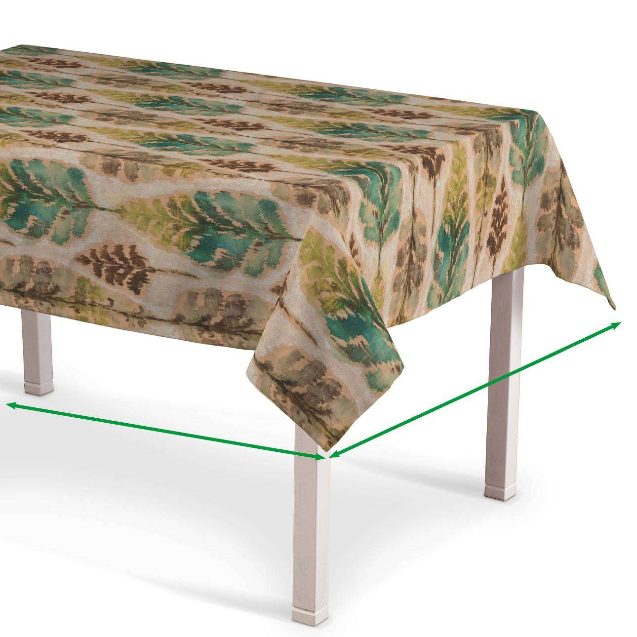 Rectangular tablecloth in collection Urban Jungle, fabric: 141-60